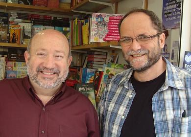 Con Manuel Merenciano, en la Feria del Libro